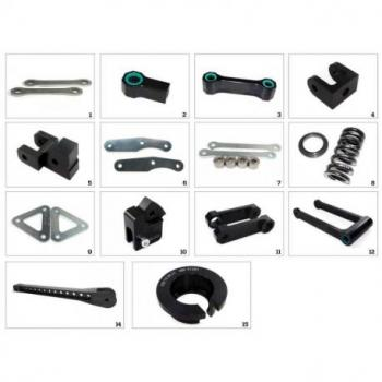 Kit de rehausse de selle TECNIUM +30mm construction 6 Kawasaki Z650