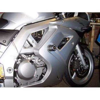 Tampons de protection R&G RACING Classic (axe de bras oscillant) noir Suzuki SV650S carénée