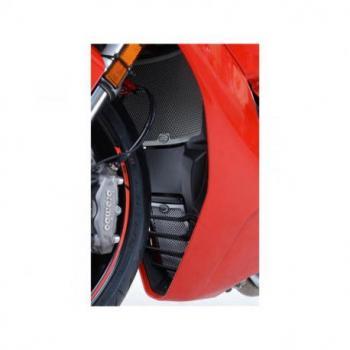 Protection de radiateur d'huile R&G RACING noir Ducati Supersport