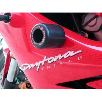 Tampons de protection R&G RACING Classic Style blanc Triumph 675 Daytona