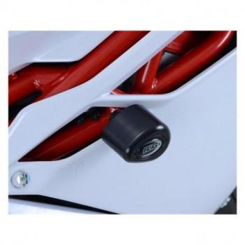 Tampons de protection R&G RACING Aero noir (sans perçage) MV Agusta F4 1000R