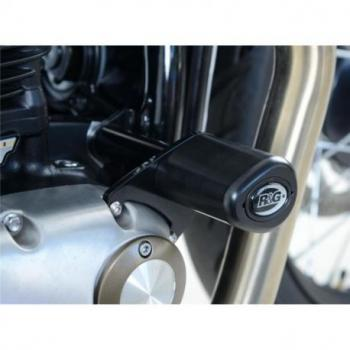 Tampons de protection R&G RACING Aero noir Triumph Bonneville Bobber