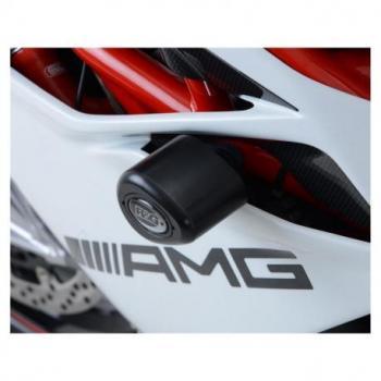 Tampons de protection R&G RACING Aero noir (sans perçage) MV Agusta F4RC