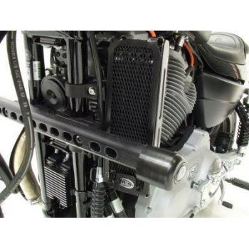 Protection de radiateur (huile) R&G RACING noir Harley Davidson XR1200