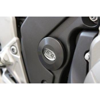 Insert de cadre droit R&G RACING noir Honda/Kawasaki