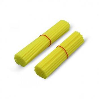 """Couvre rayon ART jaune fluo pour roue avant 21""""/roue arrière 18""""-19"""""""
