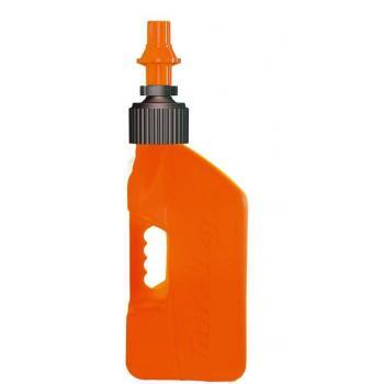 Bidon d'essence TUFF JUG 10L orange translucide/bouchon orange