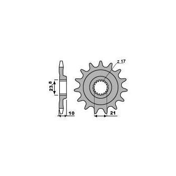 Pignon PBR 14 dents acier standard pas 520 type 2260 Suzuki RM-Z450