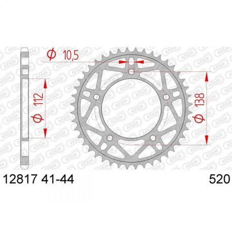 Couronne AFAM 40 dents acier standard pas 520 type 12817