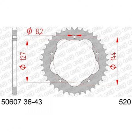 Couronne AFAM 41 dents acier standard pas 520 type 50607