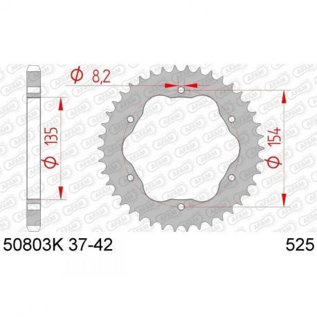 Couronne AFAM 38 dents acier standard pas 525 type 50803K