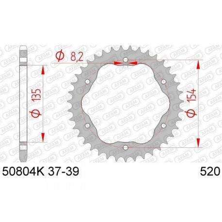 Couronne AFAM 38 dents acier standard pas 520 type 50804K
