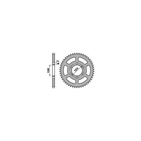 Couronne PBR 49 dents acier standard pas 428 type 4607