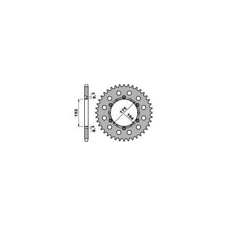 Couronne PBR 47 dents acier standard pas 520 type 856