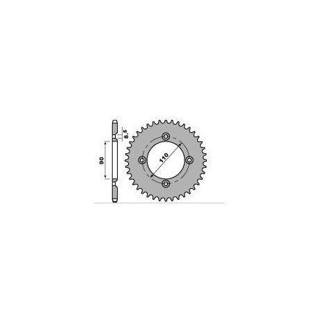 Couronne PBR 42 dents acier standard pas 415 type 4644