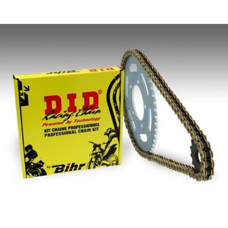 Kit chaîne D.I.D 520 type VX2 15/52 (couronne Ultra-light) Aprilia MX 125