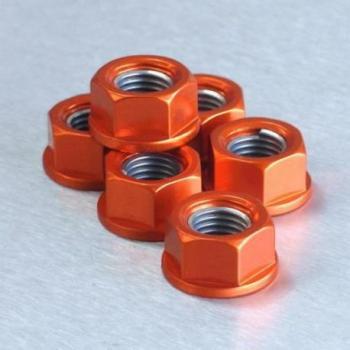 Ecrou de couronne M10X1,25 Pro-bolt alu orange par 6