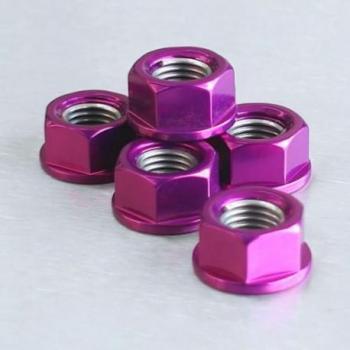 Ecrou de couronne M12X1,25 Pro-bolt alu violet par 6