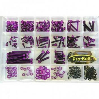 Assortiment visserie 200 pièces PRO BOLT Purple