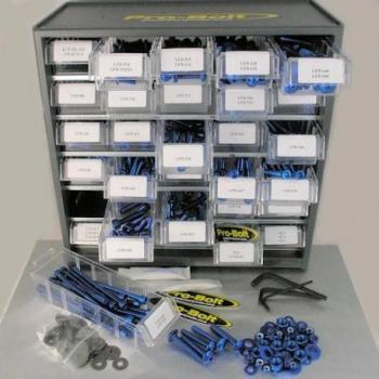 Assortiment visserie 500 pièces PRO BOLT bleu