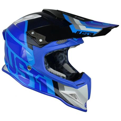Casque JUST1 J12 Unit White/Blue taille L