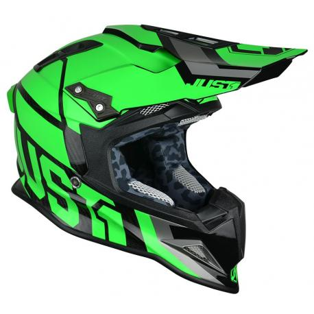 Casque JUST1 J12 Unit Neon Green taille L