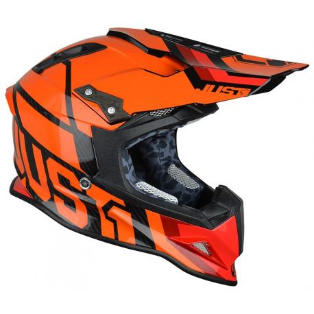 Casque JUST1 J12 Unit Neon Orange taille L