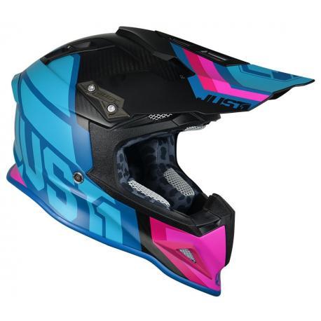 Casque JUST1 J12 Unit Blue/Pink taille L