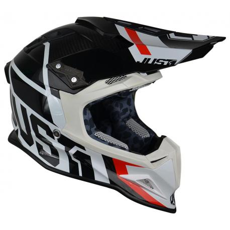 Casque JUST1 J12 Unit Black/White taille XL