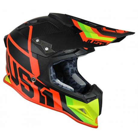 Casque JUST1 J12 Unit Red/Lime taille XXL