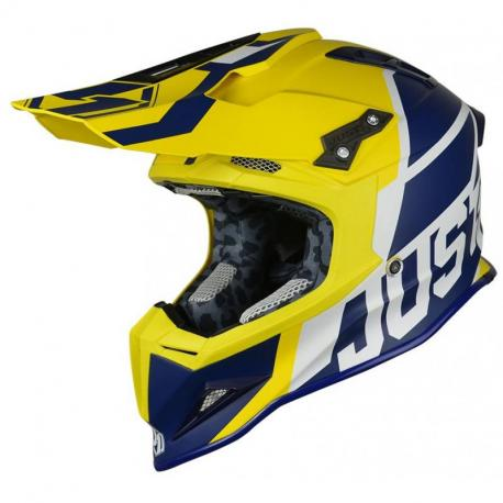 Casque JUST1 J12 Unit Blue/Yellow taille XXL