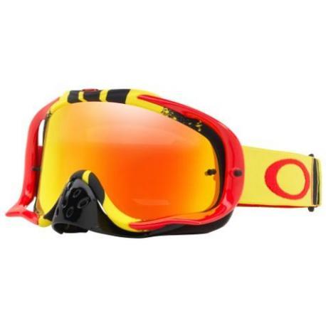 Masque OAKLEY Crowbar Pinned Race Yellow/Red écran Fire Iridium