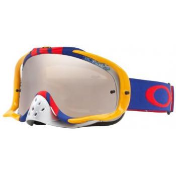 Masque OAKLEY Crowbar Pinned Race Red/Blue écran Black Iridium