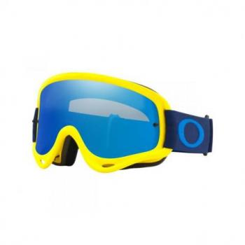 Masque OAKLEY O Frame Yellow/Navy écran Black Ice Iridium