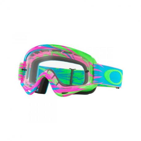 Masque OAKLEY XS O Frame High Voltage Pink/Blue écran transparent