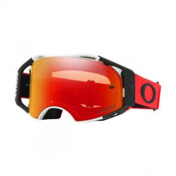 Masque OAKLEY Airbrake Red White écran Prizm MX Torch Iridium