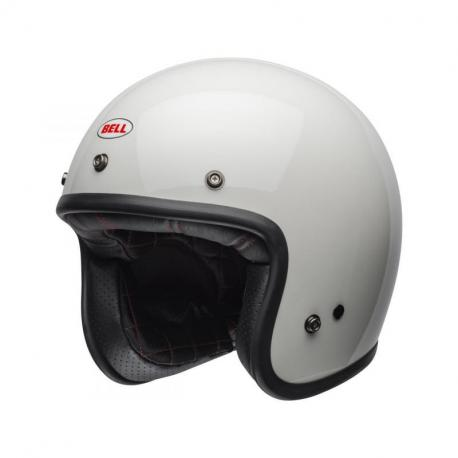 Casque BELL Custom 500 Solid Vintage blanc taille S