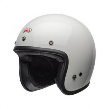 Casque BELL Custom 500 Solid Vintage blanc taille XL