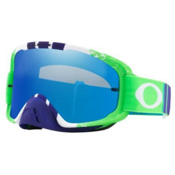 Masque OAKLEY O Frame 2.0 Pinned Race Green/Blue écran Black Ice Iridium