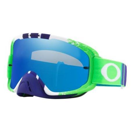 Masque OAKLEY O Frame 2.0 Pinned Race Green/Blue écran Black Ice Iridium