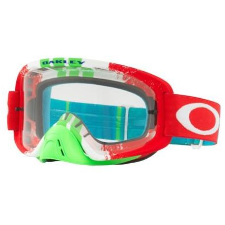 Masque OAKLEY O Frame 2.0 Pinned Race Red/Green écran transparent