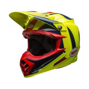 Casque BELL Moto-9 Flex Vice Blue/Yellow taille L