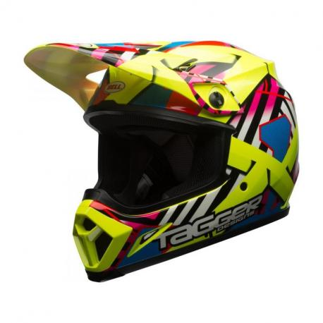 Casque BELL MX-9 MIPS Tagger Gloss Double Trouble Yellow taille L