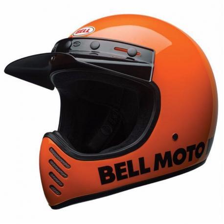Casque BELL Moto-3 Classic Neon Orange taille XL