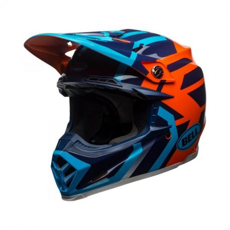 Casque BELL Moto-9 MIPS Gloss Blue/Orange District taille XL