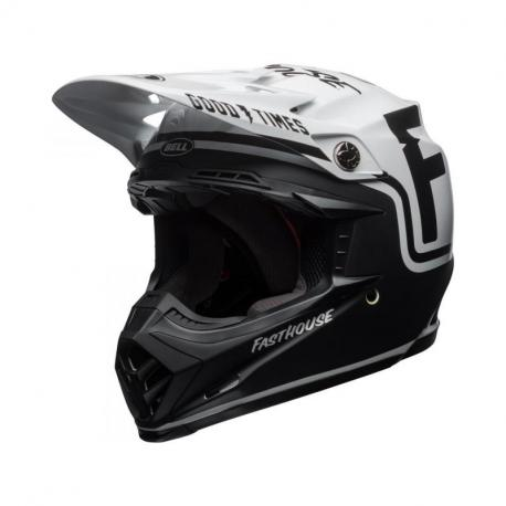 Casque BELL Moto-9 MIPS Fasthouse Gloss/Matte Black/White taille XS