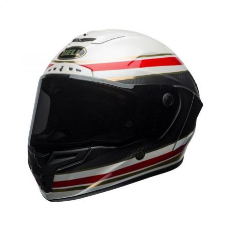 Casque BELL Race Star RSD Gloss/Matte White/Red Carbon Formula taille XS