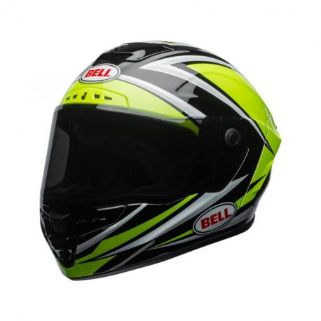 Casque BELL Star MIPS Gloss HI-VIZ Green/Black Tortion taille XS