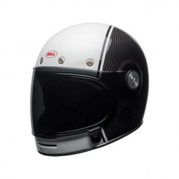 Casque BELL Bullitt Carbon Gloss White/Carbon Pierce taille L