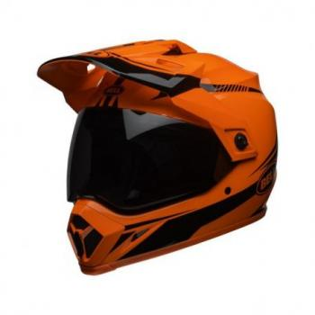 Casque BELL MX-9 Adventure MIPS Gloss HI-VIZ Orange/Black Torch taille S